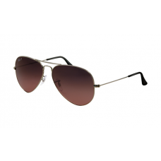 Ray Ban RB3025 Aviator Sunglasses Arista Frame Crystal Wine Red Gradient