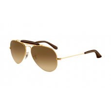 Ray Ban RB3422Q Sunglasses Gold Frame Brown Gradient Lens