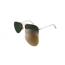 Ray Ban RB3460 Aviator Flip Out Arista Frame sunglasses