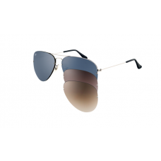 Ray Ban RB3460 Aviator Flip Out Sunglasses Gold Frame