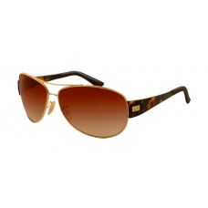 Ray Ban RB3467 Sunglasses Gold Frame Brown Gradient Lens
