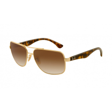 Ray Ban RB3483 Sunglasses Arista Frame Brown Gradient Lens
