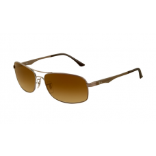 Ray Ban RB3484 Sunglasses Arista Frame Crystal Gold Mirror Lens