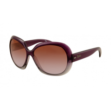 Ray Ban RB4098 Jackie Ohh II Sunglasses Purple Frame Wine Red Gradient Lens