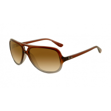 Ray Ban RB4162 Sunglasses Grey Red Crystal Frame Brown Gradient Lens