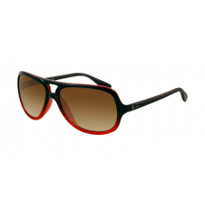 Ray Ban RB4162 Sunglasses Black Red Crystal Frame Brown Gradient Lens