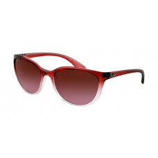 Ray Ban RB4167 Sunglasses Red Gradient on Transparent Frame Brown Gradient Lens