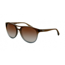Ray Ban RB4170 Sunglasses Brown Gradient on Clear Frame Grey Green Gradient Lens