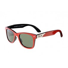 Ray Ban RB4195 sunglasses polished red / gray lens 1930